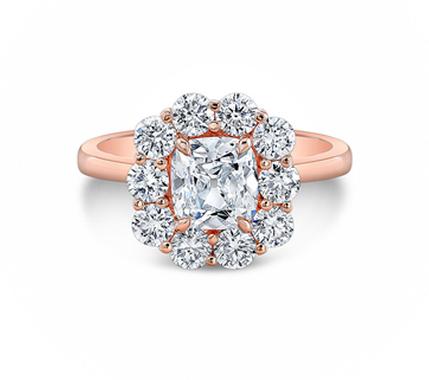 Rose Gold Cluster ring by Rahaminov Diamonds for Forevermark.
