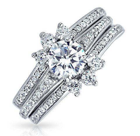 Sterling Silver CZ Engagement ring from Bling Jewelry