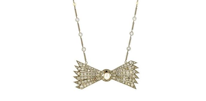 Doyle & Doyle Antique Diamond & Pearl* Convertible Necklace/Pin/Bracelets