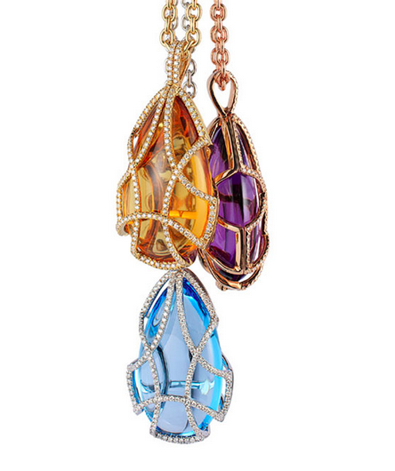 Freedom Teardrop Cages in 18K