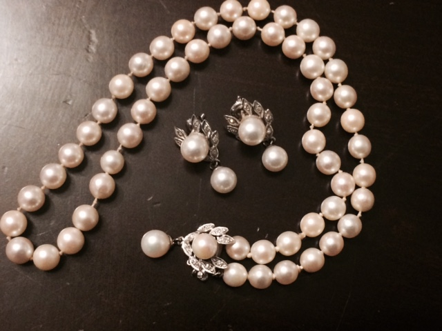 Grandma's Pearl and Diamond Necklace