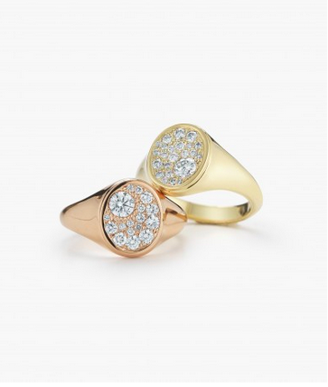 Jade Trau for Forevermark Signet Ring