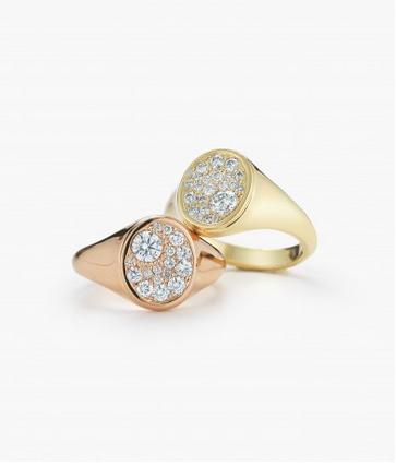 Jade Trau for Forevermark Signet Ring