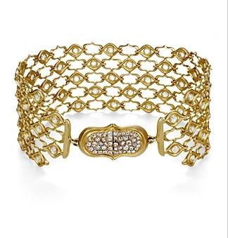 Luxeintelligence Client Anahita's Screen 18k Gold and Diamond Bracelet.