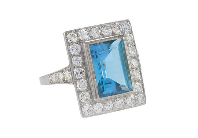 Vintage Or Antque? Depends who you ask. This Circa 1930 Art Deco ring would be vintage in my estimation but some would call it an antique.
