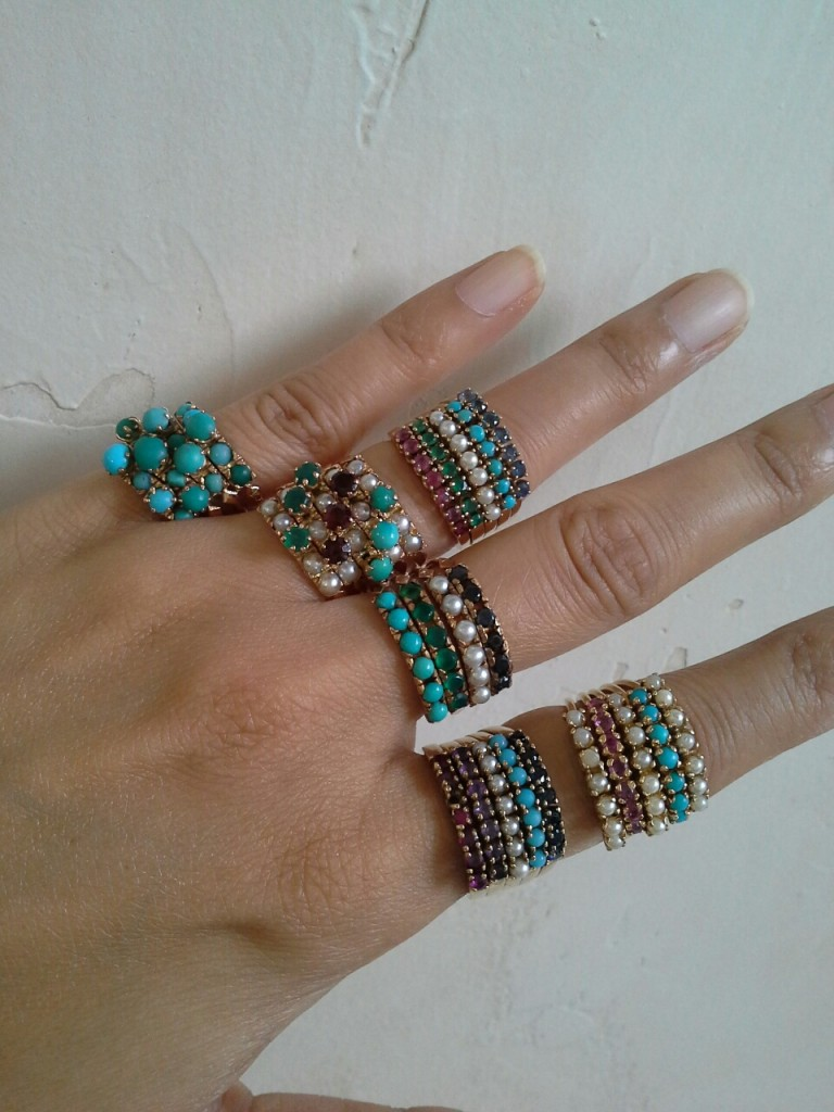 Variety of Harem Rings from instagrammer Treasuregarland