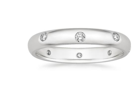Nova Wedding Ring in 18k Gold with Flush Set Diamonds from Brilliant Earth