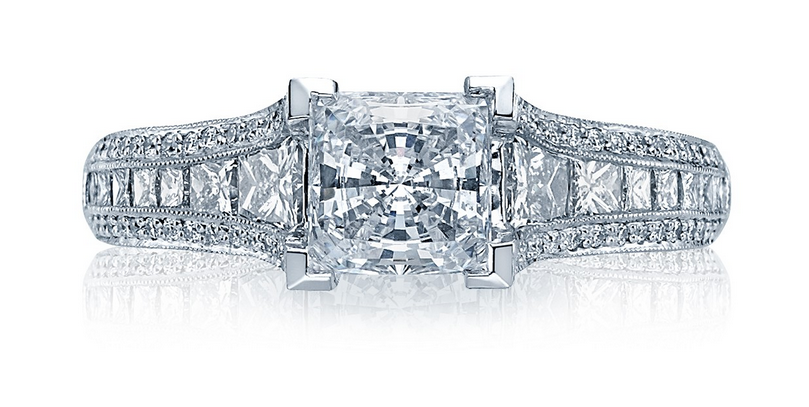 """Classic Crescent"" Style engagement ring from Tacori"