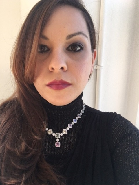 Multi Sapphire and Diamond Necklace Worn by Yours Truly and Made by Richard Berberian for Elyse Fine Jewelry