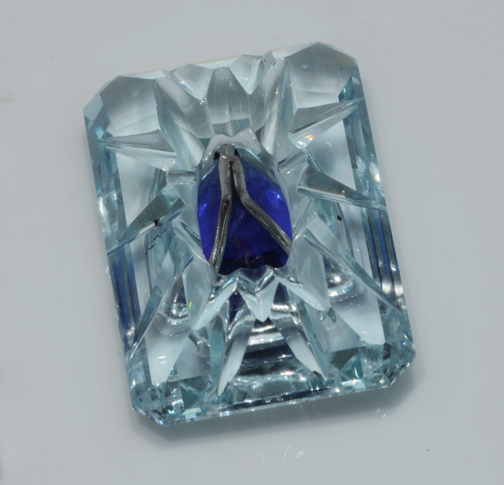 Rear View of The Tanzanite and Aquamarine by Yael Designs