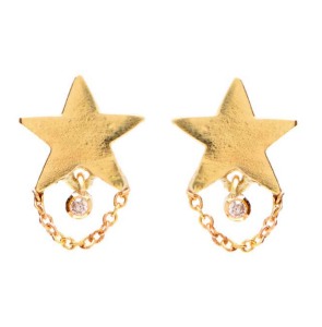 Unhada Teeny Dancer 18K Yellow Gold Studs