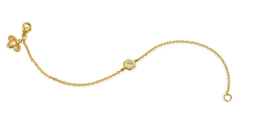 B Collection Bracelet by Gumuchian Set in 18k Yellow Gold Featuring one Round .08 Carat Diamond.