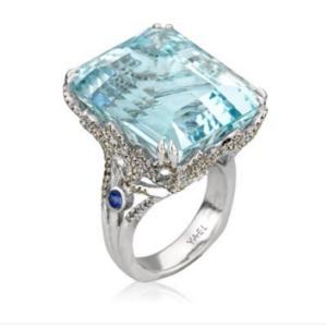 Yael-Designs-Aquamarine-Ring-diamonds-white-gold-pantone-serenity-2016