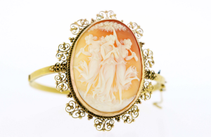 Three Graces Cameo 14K Bangle from Time Keepers In Clayton.
