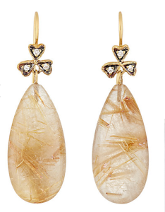 Cathy Waterman Rutilated Quartz Earrings.