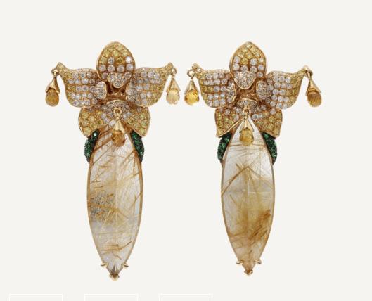 Wendy Yue Rutilated Quartz Earrings