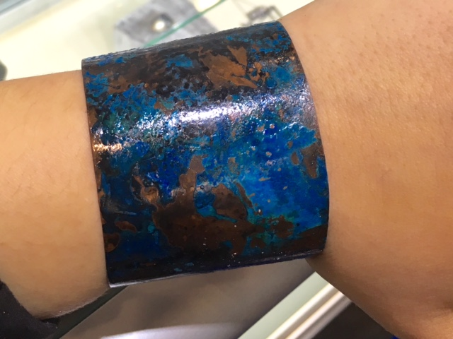 Metalurj Copper Cuff Treated with Salt and Ammonia